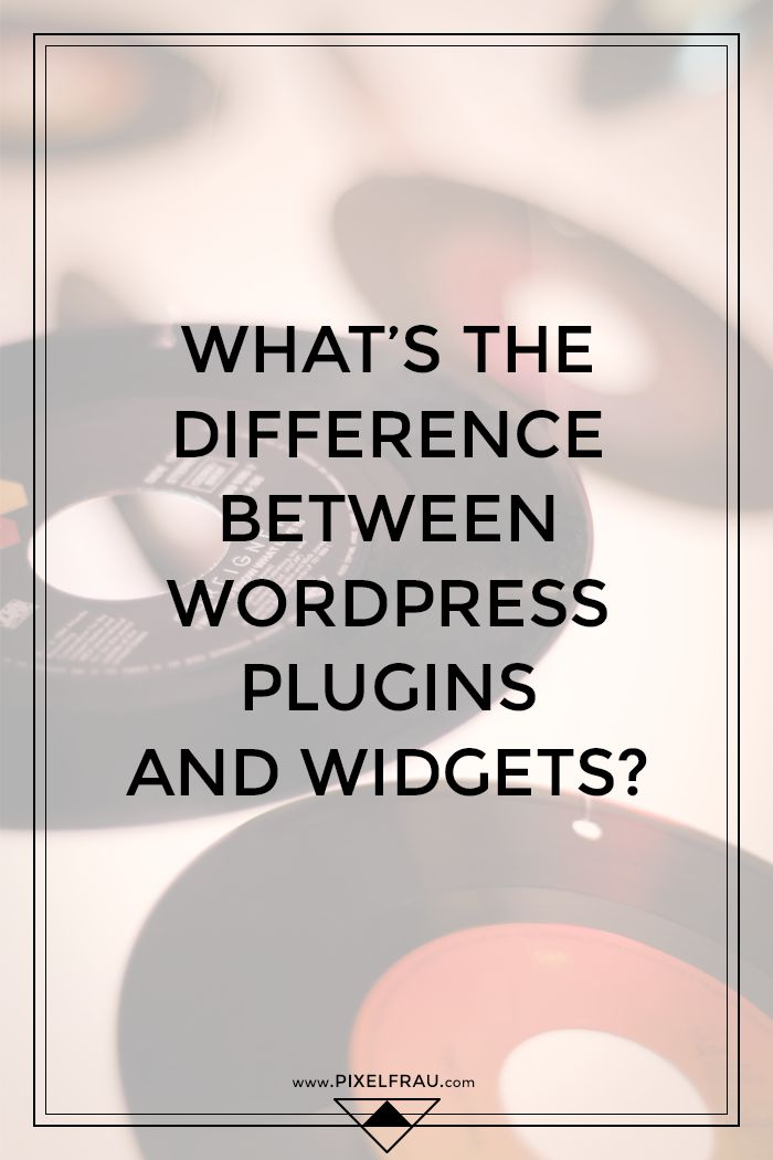 What's the Difference Between WordPress Plugins and Widgets?