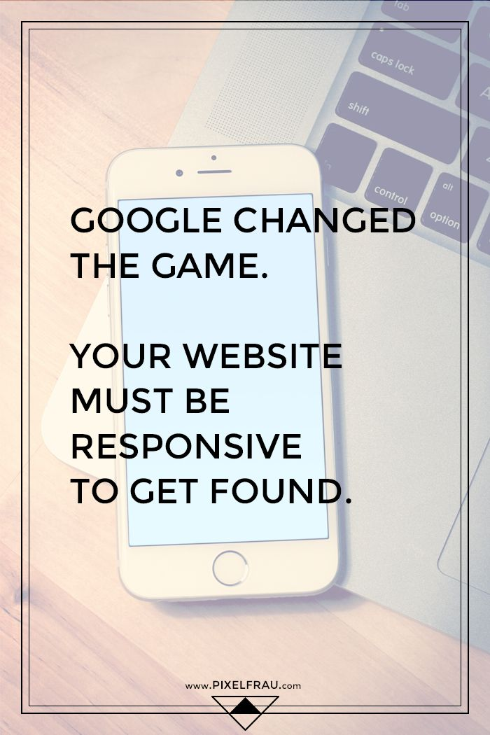 Google Changed the Game: Your Website Must be Responsive